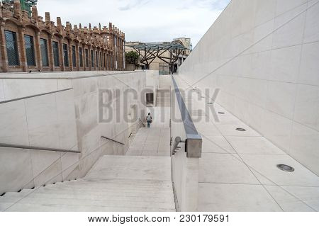 Barcelona,spain-june 8,2015:architecture, Building, Modernist Style, Fabrica Factory Casaramona, By