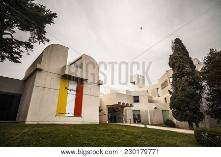 Barcelona,spain-march 19,2015: Modern Architecture Building,designed By Josep Lluis Sert.joan Miro F