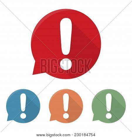 Exclamation Mark Icon. Attention Sign Icon. Hazard Warning Symbol. Vector Illustration.