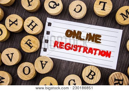 Word, Writing, Text  Online Registration. Conceptual Photo Register Web Subscription Subscribe Writt