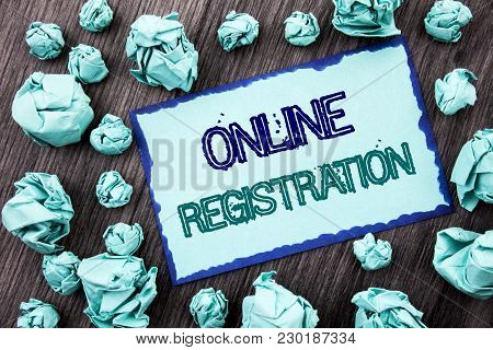 Conceptual Hand Writing Text Showing Online Registration. Concept Meaning Register Web Subscription