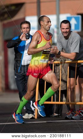 Hassane Ahouchar, Finally At Fifth Place Men, Participating In Valencias Marathon On November 18, 20