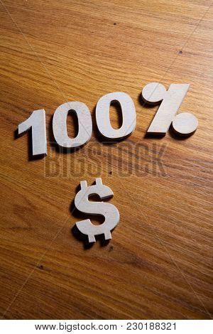 100 Percent Discount Sign