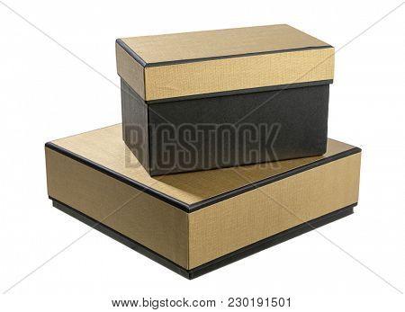 Elegant Gift Boxes Isolated