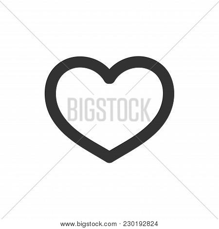 Simple Heart Outline Icon For Web Vector