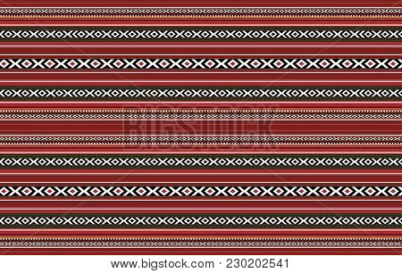 Detailed Horizontal Traditional Handcrafted Red Sadu Rug poster