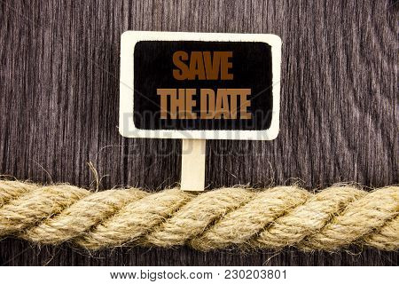 Conceptual Writing Text Showing Save The Date. Business Photo Showcasing Wedding Anniversary Invitat