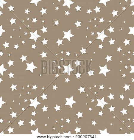 Star Seamless Pattern. Cute Kids Star Seamless Pattern. Seamless Patter With Stars. Star Background.