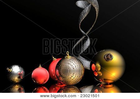 ultra modern masculine christmas background with plenty of room for text