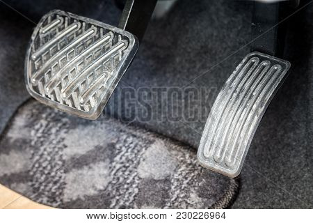 Brake And Accelerator Pedal Of A Car