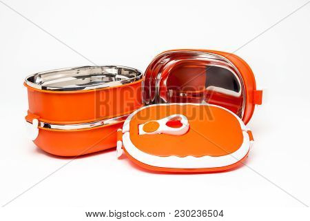 Three Plastic Dining Bowl With Lid For Food