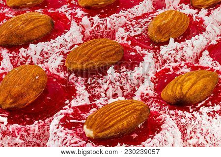 Rakhat-lukum Sprinkled With Coconut Shavings And Almond