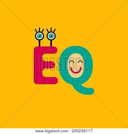 Eq Icon. Logo, Sign, Symbol Emotional Intelligence, Psychology Therapy Empathy Vector Illustration