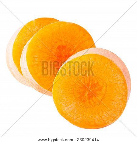 Isolated Carrot.chopped Carrot Slices Isolated On White Background With Clipping Path As Package Des