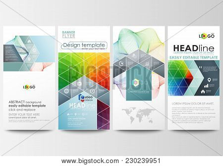 Flyers Set, Modern Banners. Business Templates. Cover Template, Easy Editable Flat Style Layouts, Ve