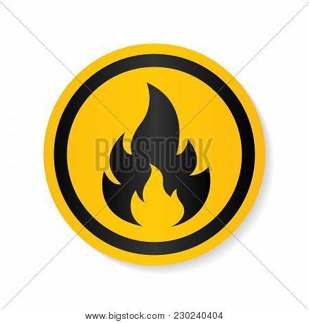 Fire Warning Vector Photo Free Trial Bigstock