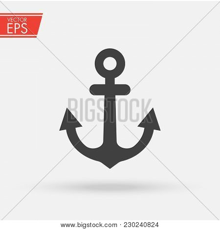 Anchor Vector Illustration. Anchor Engraved Vintage In Old Hand Drawn Or Tattoo Style, Drawing For M