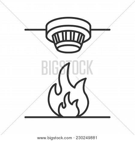 Smoke Detector Linear Vector Photo Free Trial Bigstock