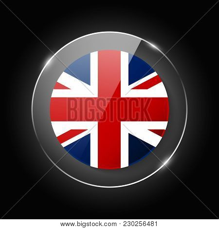 United Kingdom, England National Flag. Application Language Symbol. Country Of Manufacture Icon. Rou