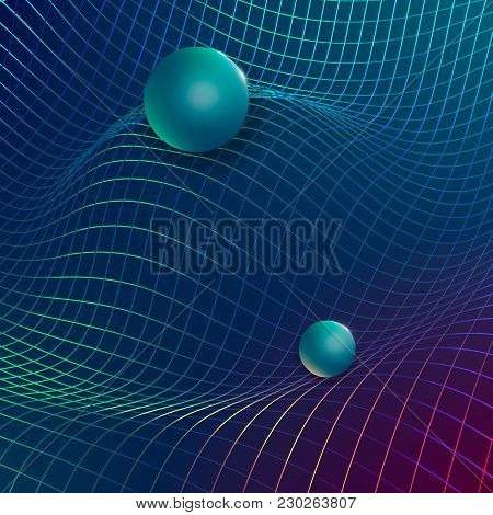 Gravitational Waves Concept.physical And Technology Concept Background.