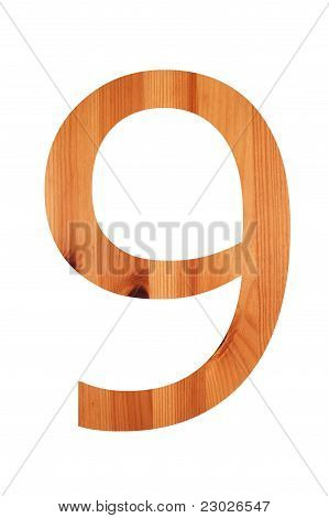 Wood Alphabet 9