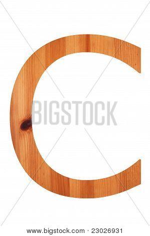 Wood Alphabet C