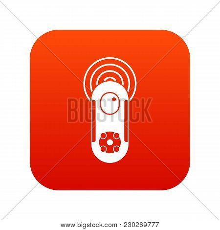 Game Joystick Icon Digital Red For Any Design Isolated On White Vector Illustration