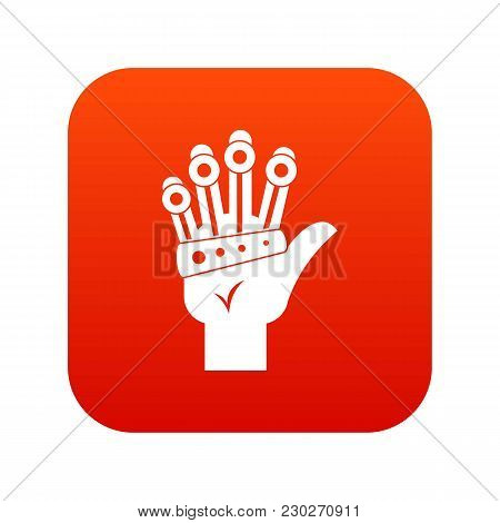 Vr Manipulator Icon Digital Red For Any Design Isolated On White Vector Illustration