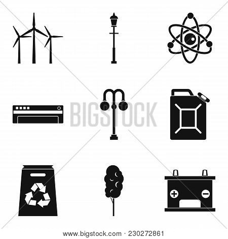 Windmill Icons Set. Simple Set Of 9 Windmill Vector Icons For Web Isolated On White Background