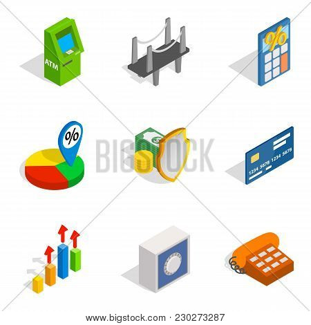 Entrepreneur Icons Set. Isometric Set Of 9 Entrepreneur Vector Icons For Web Isolated On White Backg