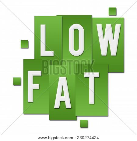 Low Fat Text Written Over Green Background.