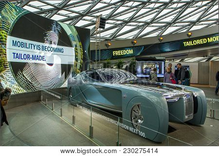 Munich, Germany - November 1, 2017: 103Ex-rolls-royce Vision Next 100 On Display At The Bmw Museum I
