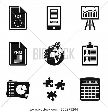Production Environment Icons Set. Simple Set Of 9 Production Environment Vector Icons For Web Isolat