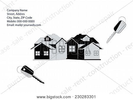 Banner Companies Selling, Buying, Leasing Real Estate - Cottage, Keys Requisites For Communication -