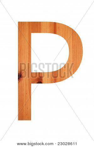 Wood Alphabet P