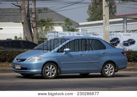 Chiang Mai, Thailand -february 8 2018: Private  Honda City Compact Car. Produced By The Japanese Man