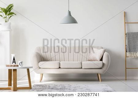 Bright Sofa With Pillow