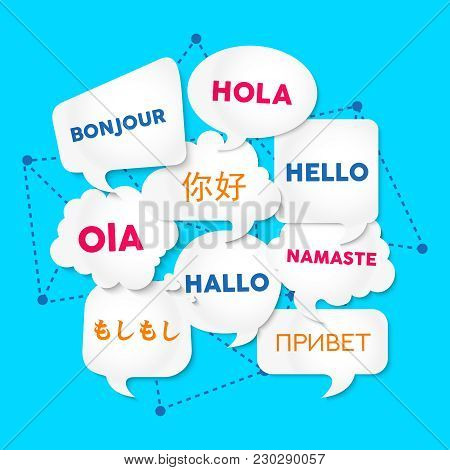 Hello Chat Bubble Translation In Foreign Languages