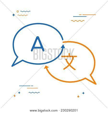 Language Translation Chat Bubble Concept