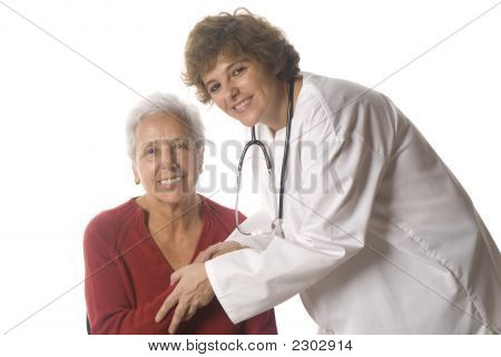 Doctor Greeting A Senior Patient
