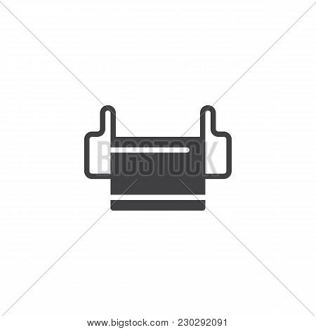 Medical Mask Vector Icon. Filled Flat Sign For Mobile Concept And Web Design. Mask Respirator Simple