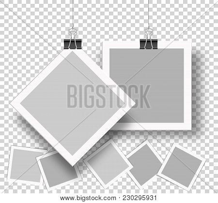Vector Photo Frames To Submit Your Creative Design And Family Photo, Friends Photo. Stock- Vector