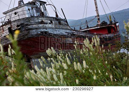 Abandon Ship Run Aground In Quebec Canada