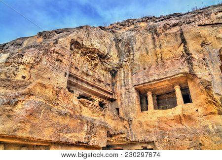 Vishvakarma Cave, A Major Buddhist Prayer Hall At Ellora Caves. A Unesco World Heritage Site In Maha
