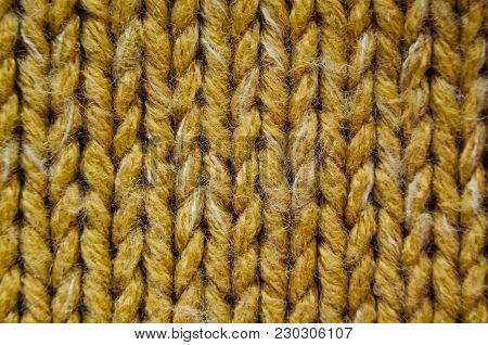 Knit Texture Close-Up. Knit Sweater Blank Background