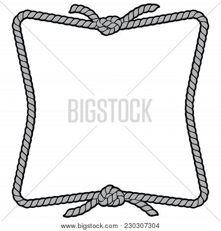 Rope Frame Sign Illustration - A Vector Cartoon Illustration Of A Couple Of Rope Border Frame Concep
