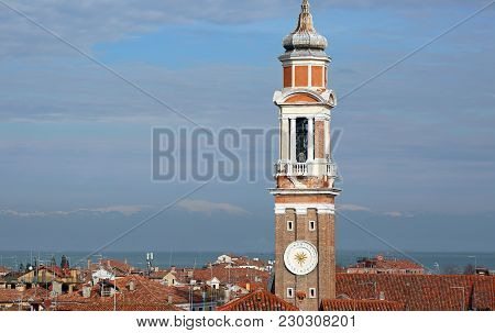 Bell Tower Of Church Of The Holy Apostles Of Christ Commonly Called Santi Apostoli Located In The Ca