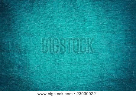 Blue Faded Cloth Textile Texture Background Close Up