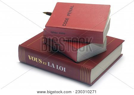 Legal Book And The French Penal Code Useful For Not Ignoring The Law