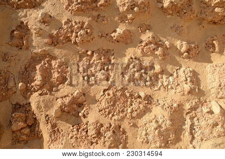 Background Of Stone Stone Wall   In Belmonte, A Village In  The Province Of Cuenca, Castile-la Manch